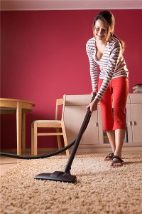 Cleaning the home is important before you move in.