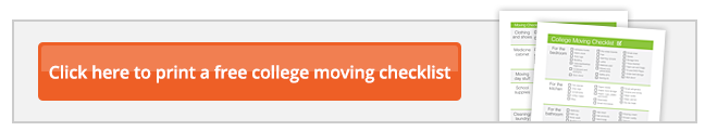 Moving to college checklist