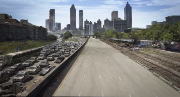 Atlanta is overrun by zombies.