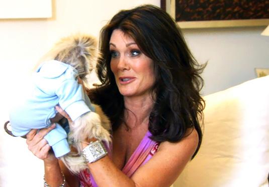 Lisa Vanderpump with her dog Giggy
