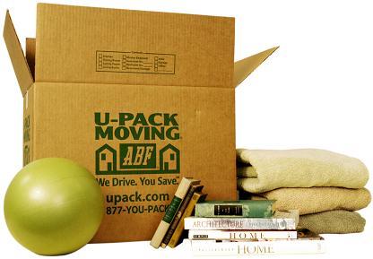 Use medium or large boxes for packing folded clothing