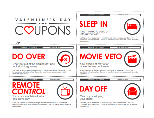 printable Valentine's coupons