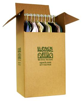 Use wardrobe box for packing cothing on hangers.