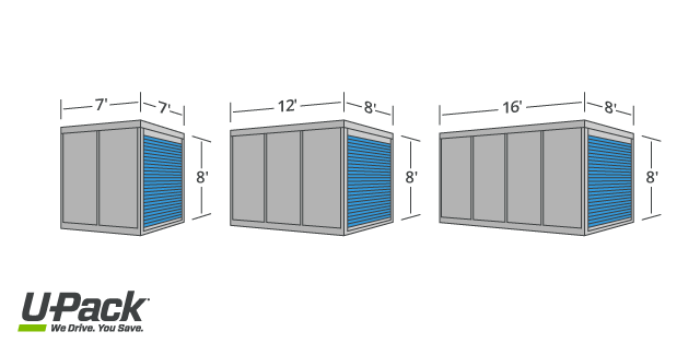 PODS® Container Sizes Comparison | U-Pack