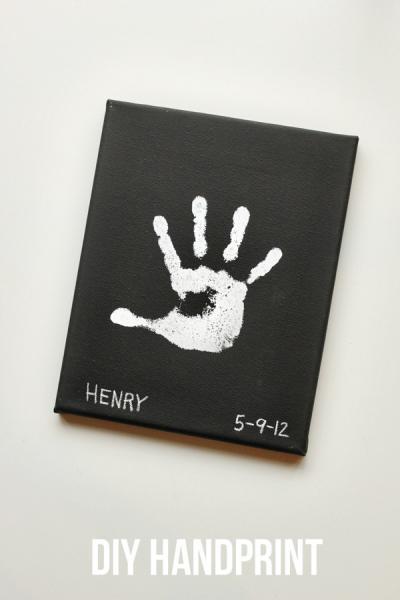 DIY handprint art for DAD