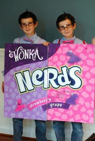 DIY nerds candy halloween costume