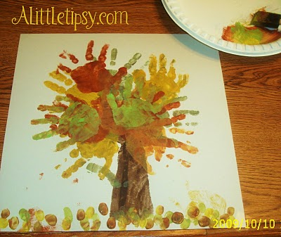 Father's Day Craft: Handprint tree