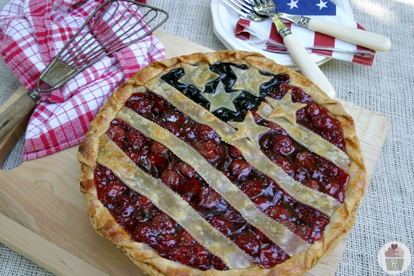 July 4th recipe for flag pie