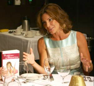 LuAnn de Lesseps with her etiquette book: Class with the Countess