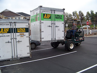 Get permission before parking a container in a parking lot.