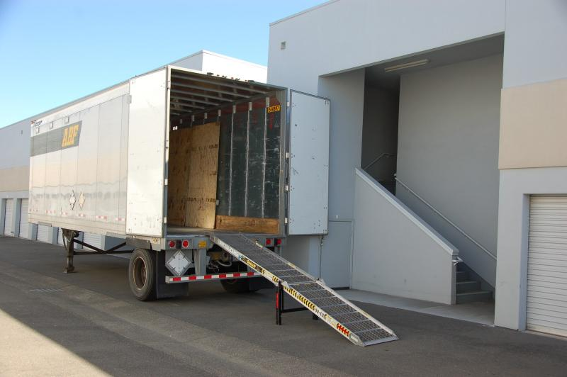 do I need a permit for parking a moving truck at a storage facility?