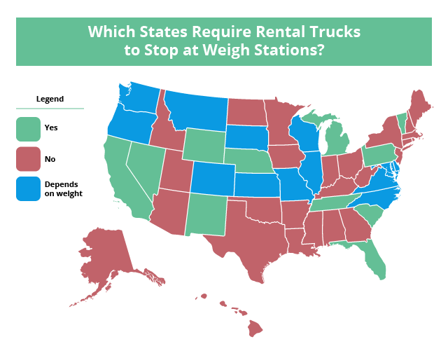 Do rental trucks have to stop at weigh stations? | U-Pack