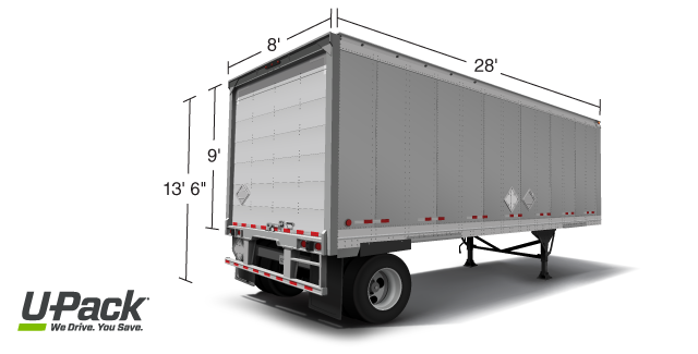 U-Pack trailer size